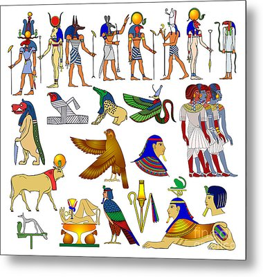 Various Themes Of Ancient Egypt Metal Print