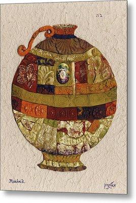 vase - Mosaic Metal Print by Michoel Muchnik