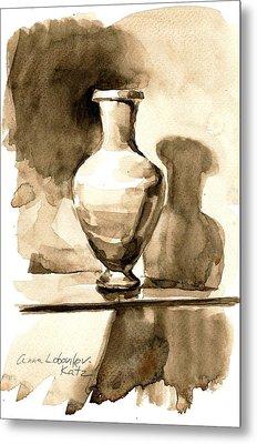 Vase Metal Print by Anna Lobovikov-Katz