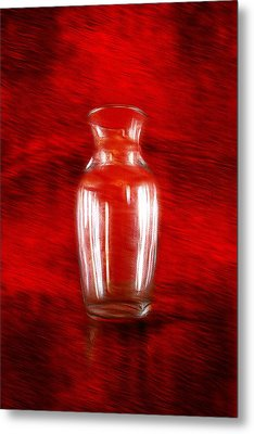 Metal Print featuring the photograph Vase En Rouge by Aaron Berg