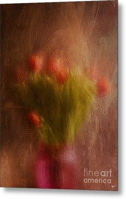 Vase Of Tulips  Metal Print by Alana Ranney