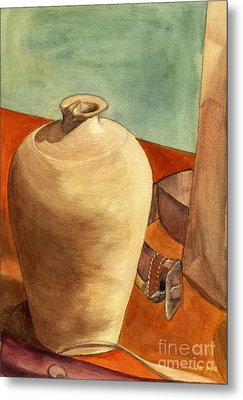 Vase Still Metal Print by Mukta Gupta