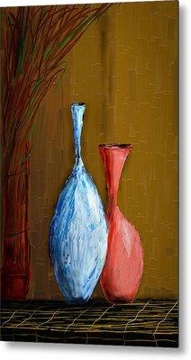 Vases Metal Print by Vandana Rajesh