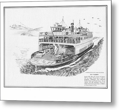Vashon Ferry Metal Print