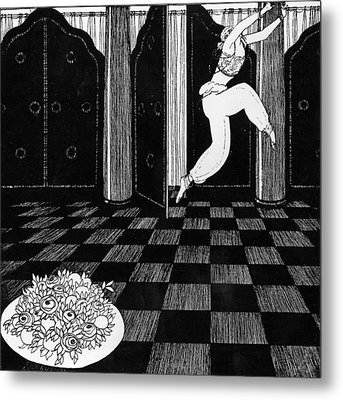Vaslav Nijinsky In Scheherazade Metal Print by Georges Barbier