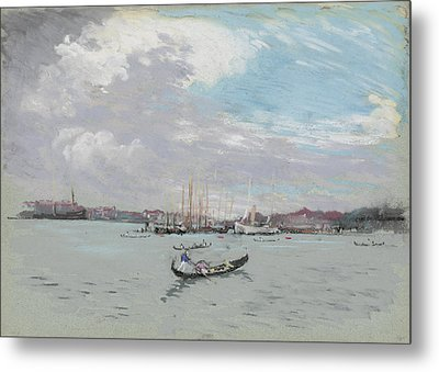 Vast Lagoon Outside Venice Circa 1901 Metal Print by Aged Pixel