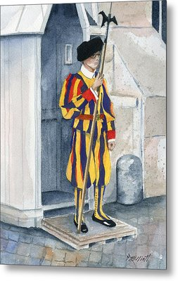 Vatican Guard Metal Print by Marsha Elliott