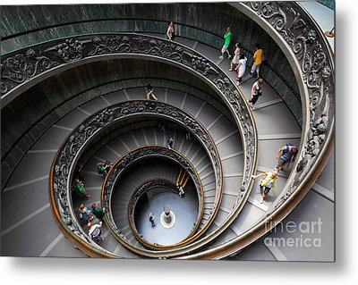 Vatican Spiral Staircase Metal Print by Inge Johnsson