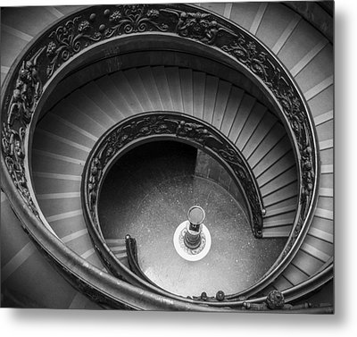 Vatican Stairs Metal Print by Adam Romanowicz