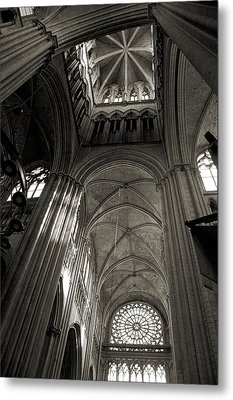 Vaults Of Rouen Cathedral Metal Print by RicardMN Photography