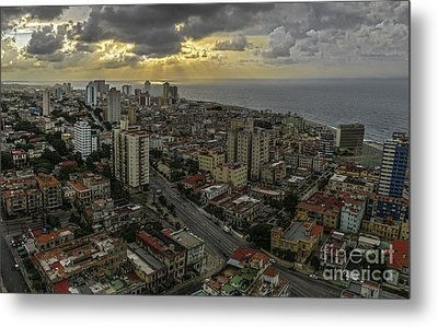 Vedado Havana City Sunset Metal Print