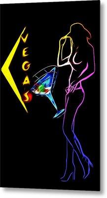 Vegas Girls Metal Print by Steve K