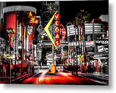 Vegas Nights Metal Print by Az Jackson