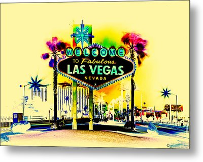 Vegas Weekends Metal Print by Az Jackson