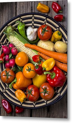 Vegetable Basket    Metal Print by Garry Gay