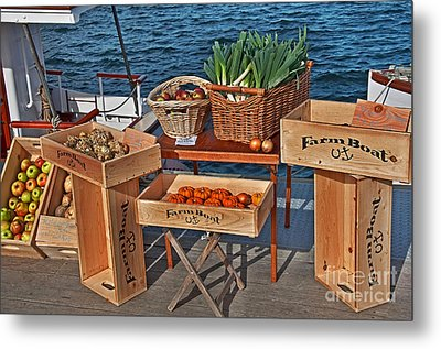 Metal Print featuring the photograph Vegetables At Floating Farmer's Market by Valerie Garner