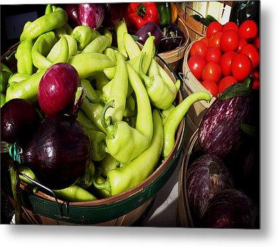 Vegetables Organic Market Metal Print by Julie Palencia