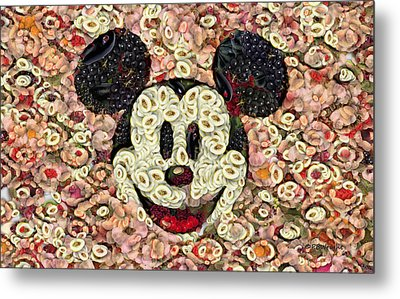 Veggie Mickey Mouse Metal Print by Paulette B Wright