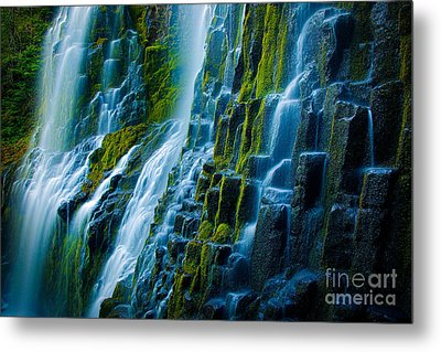 Veiled Wall Metal Print by Inge Johnsson