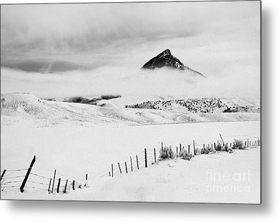 Veiled Winter Peak Metal Print