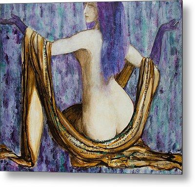 Veils To Clothe Venus With Metal Print by Brenda Clews