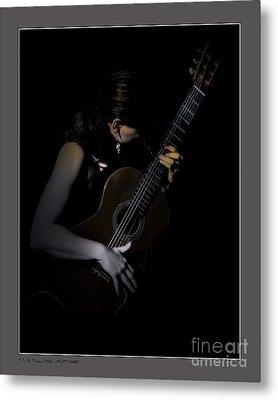 Velvet Chords Metal Print