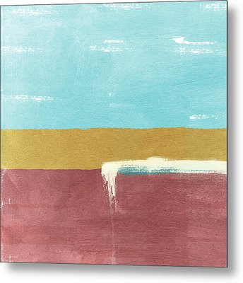 Velvet Horizon- Abstract Landscape Metal Print by Linda Woods