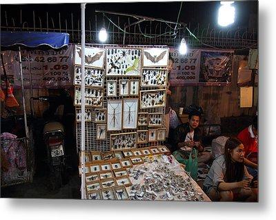Vendors - Night Street Market - Chiang Mai Thailand - 011320 Metal Print by DC Photographer