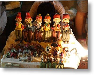 Vendors - Night Street Market - Chiang Mai Thailand - 011329 Metal Print by DC Photographer