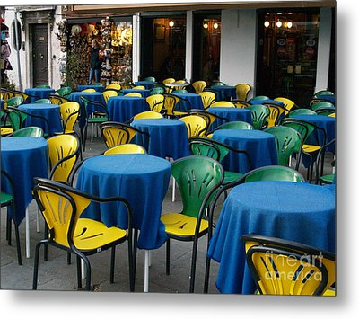 Metal Print featuring the photograph Venetian Cafe by Robin Maria Pedrero
