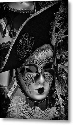 Venetian Carnival Mask Metal Print
