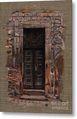 Venetian Door 02 Elena Yakubovich Metal Print by Elena Yakubovich