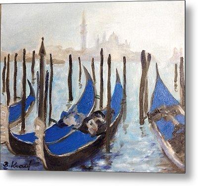 Venetian Gondolas Metal Print by Barbara Anna Knauf