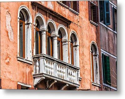 Venetian Houses In Italy Metal Print