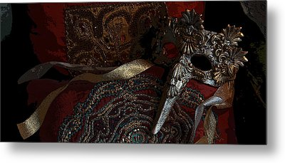 After The Carnival - Venetian Mask Metal Print by Yvonne Wright