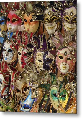 Venetian Masks Metal Print by Ramona Johnston