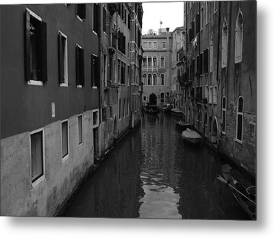 Metal Print featuring the photograph Venetian Monochrome Bw by Walter Fahmy
