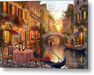 Venetian Sunset Metal Print by Dominic Davison