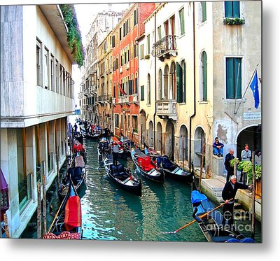 Venetian Traffic Jam Metal Print