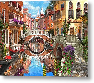 Venetian Waterway Metal Print by Dominic Davison