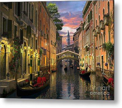 Venice At Dusk Metal Print by Dominic Davison
