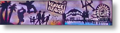 Venice Beach To Santa Monica Pier Metal Print by Tony B Conscious