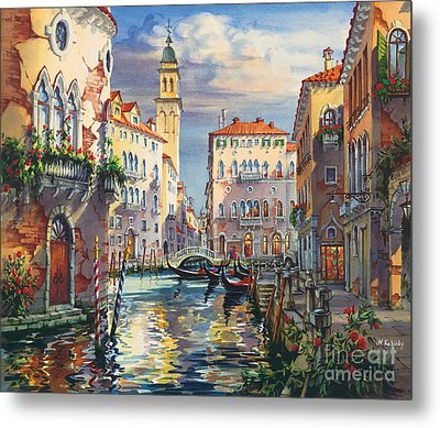 Venice Before Sunset Metal Print by Maria Rabinky