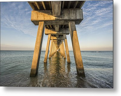 Venice Below The Pier Metal Print by Jon Glaser