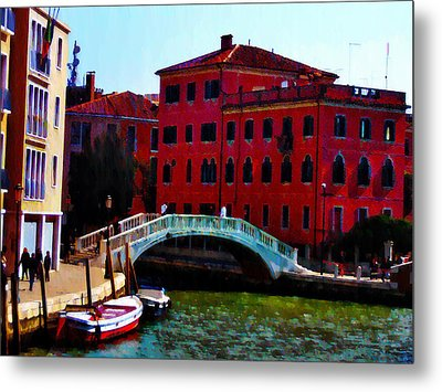 Venice Bow Bridge Metal Print by Bill Cannon