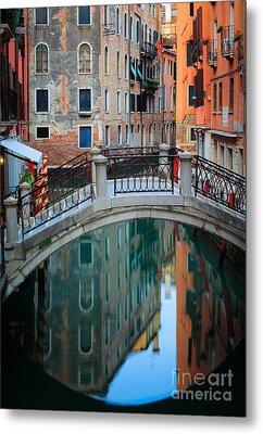 Venice Bridge Metal Print by Inge Johnsson