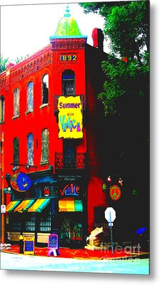 Venice Cafe' Painted And Edited Metal Print
