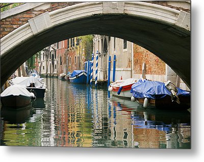 Metal Print featuring the photograph Venice Canal Boat by Silvia Bruno