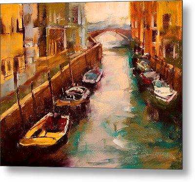 Venice Canal Metal Print by David Patterson