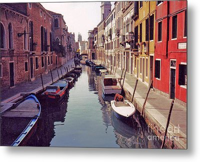 Venice Canal Metal Print by Rita Brown